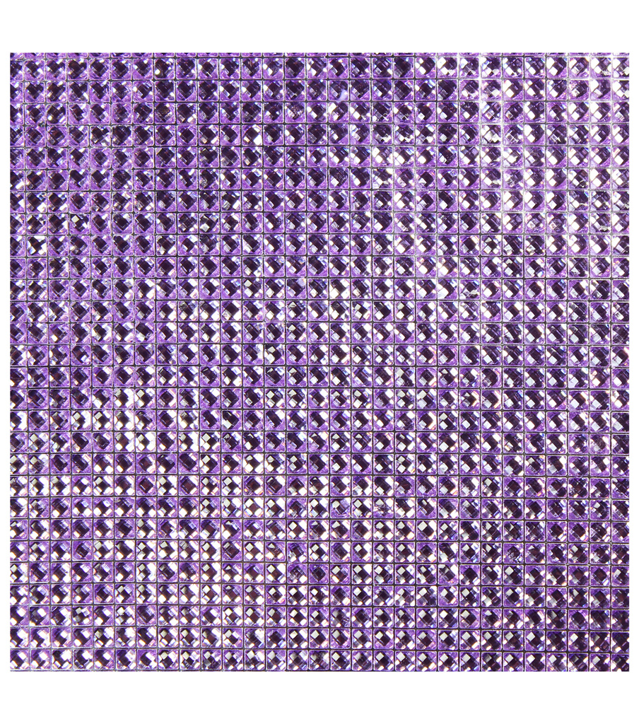 Dazzling  Resin Jewel Self Adhesive Sheet-Purple