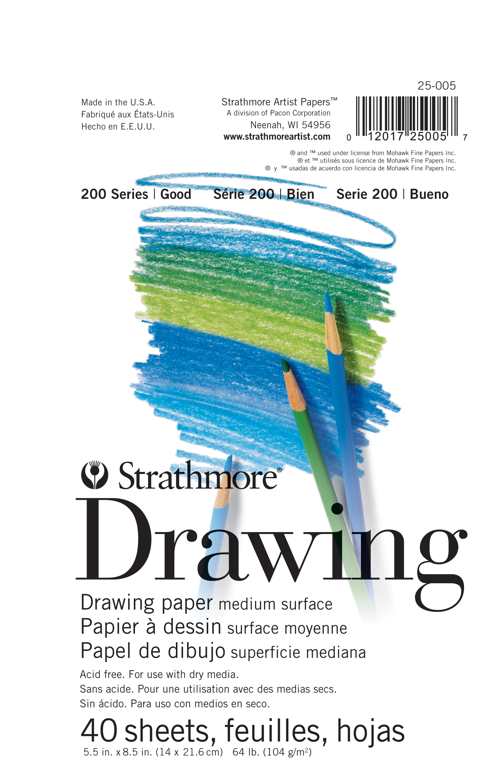 Strathmore Drawing Paper 200 Series, 5.5\u0022 x 8.5\u0022