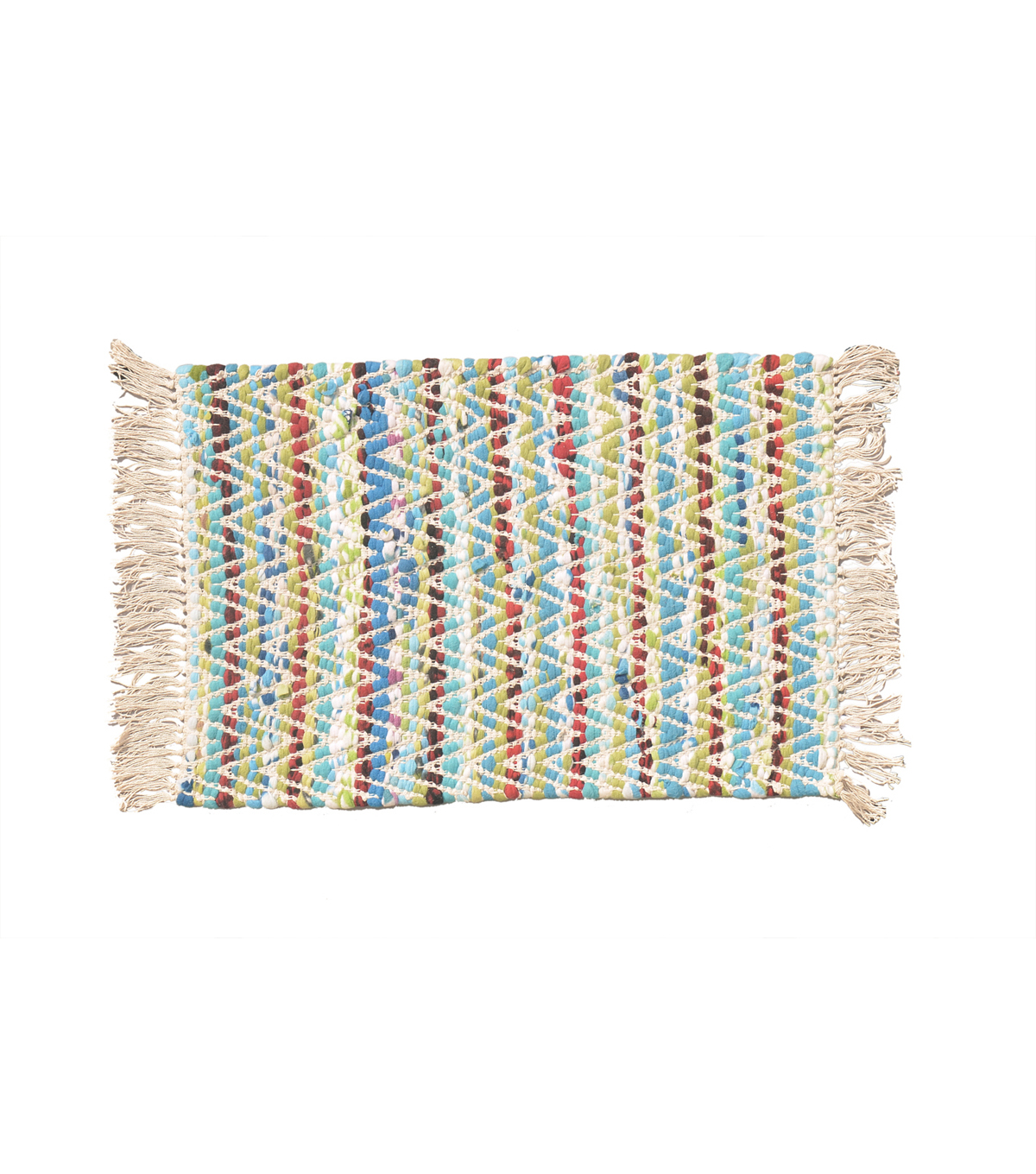 Idea Market Hand-Done 20''x30'' Handwoven Rug-Multi