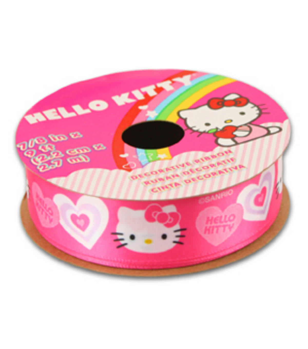Hello Kitty® Valentines Ribbon Pink Solid Heart