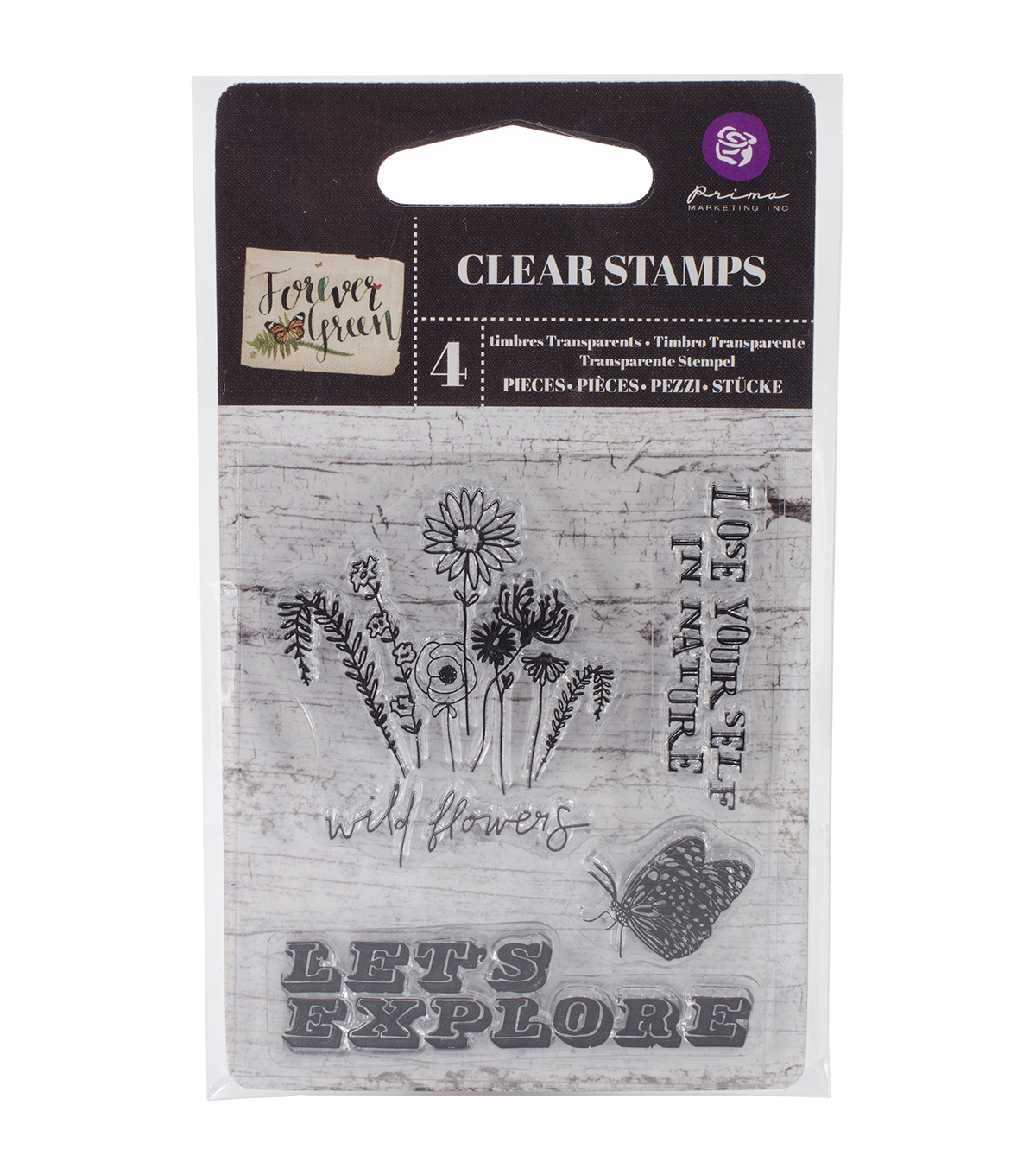 "Forever Green Clear Stamps 2.5""X3""-#1"
