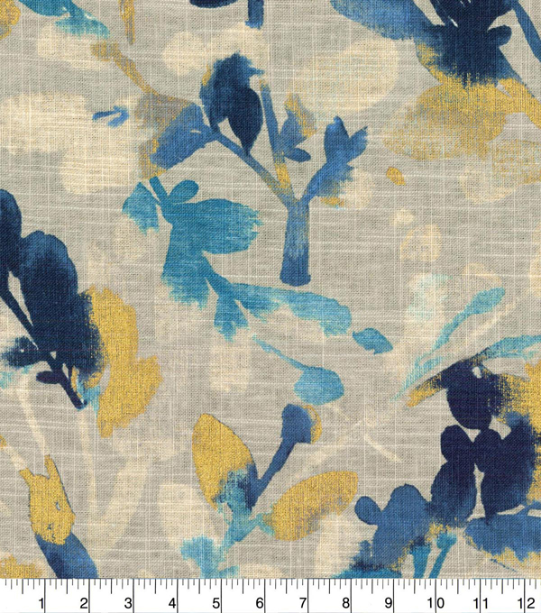 Waverly® Upholstery Fabric 54''-Indigo Leaf Storm