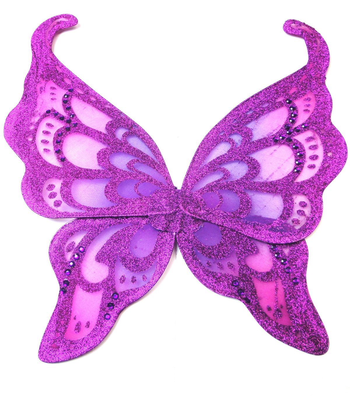 Maker's Halloween Children's Fuchsia With Purple Glitter Wings