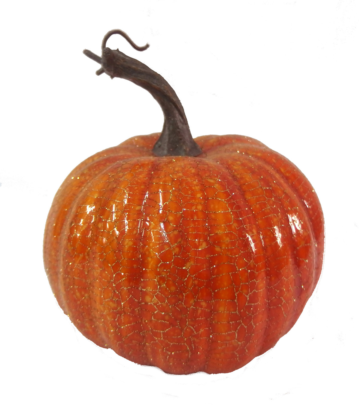 Blooming Autumn 5.25\u0027\u0027 Crackle Pumpkin-Orange