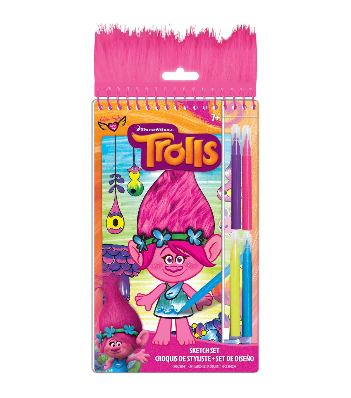 Dreamworks Trolls Poppy Sketch Set
