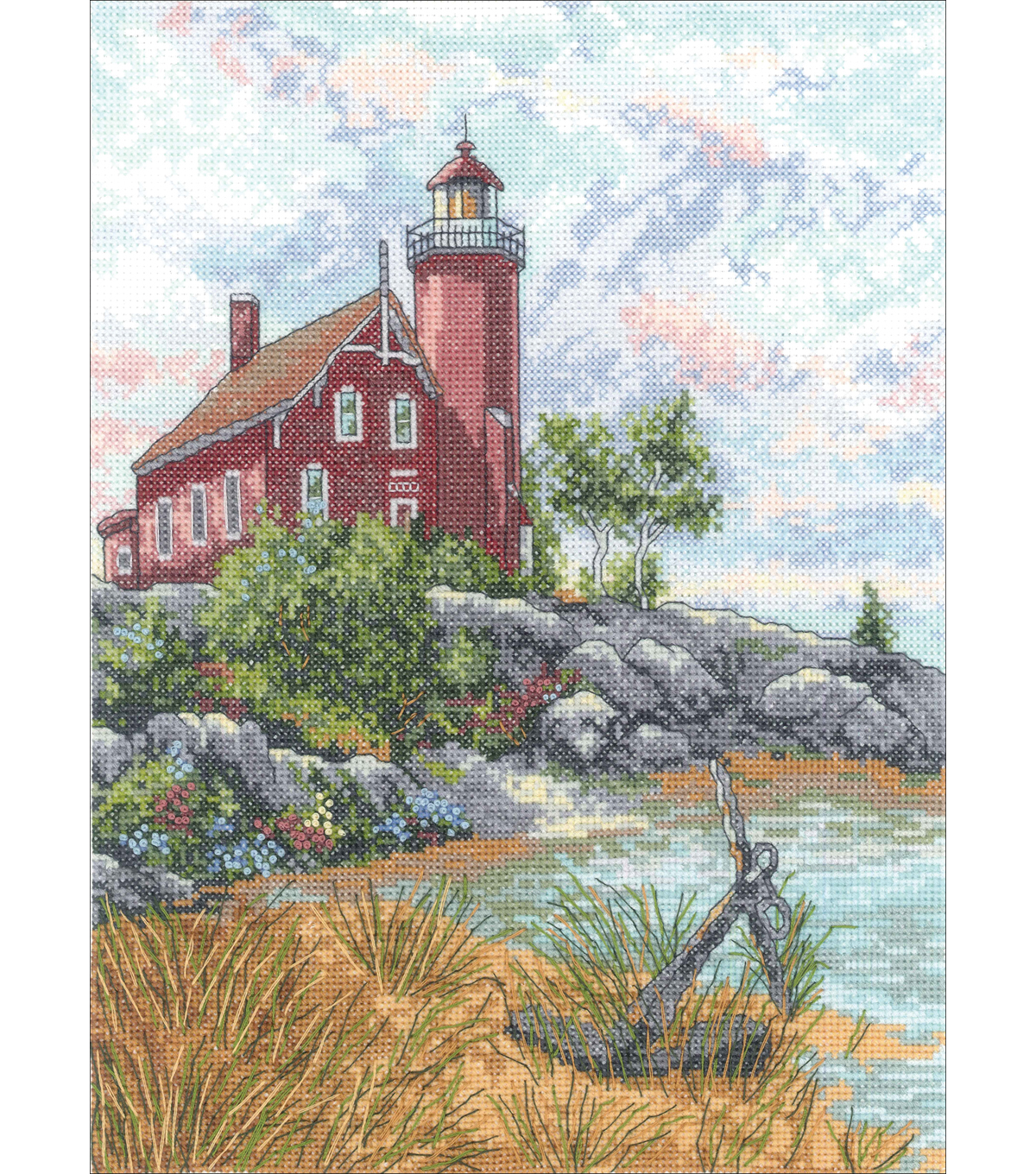 "Eagle Harbor Light Counted Cross Stitch Kit-9""X12"" 14 Count"