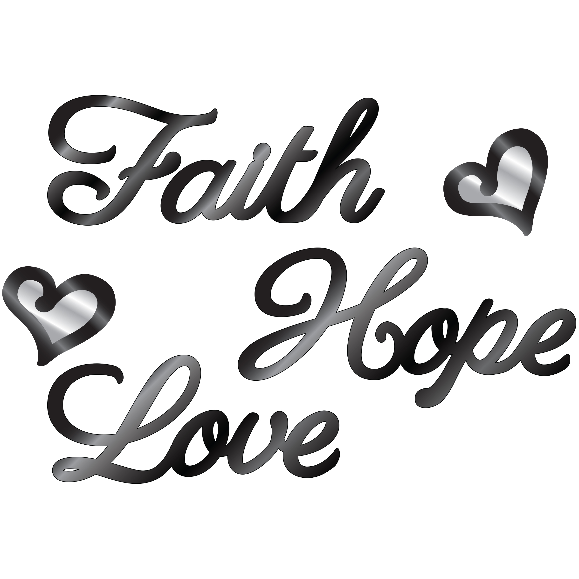 DCWV Faith Hope Love Mirror