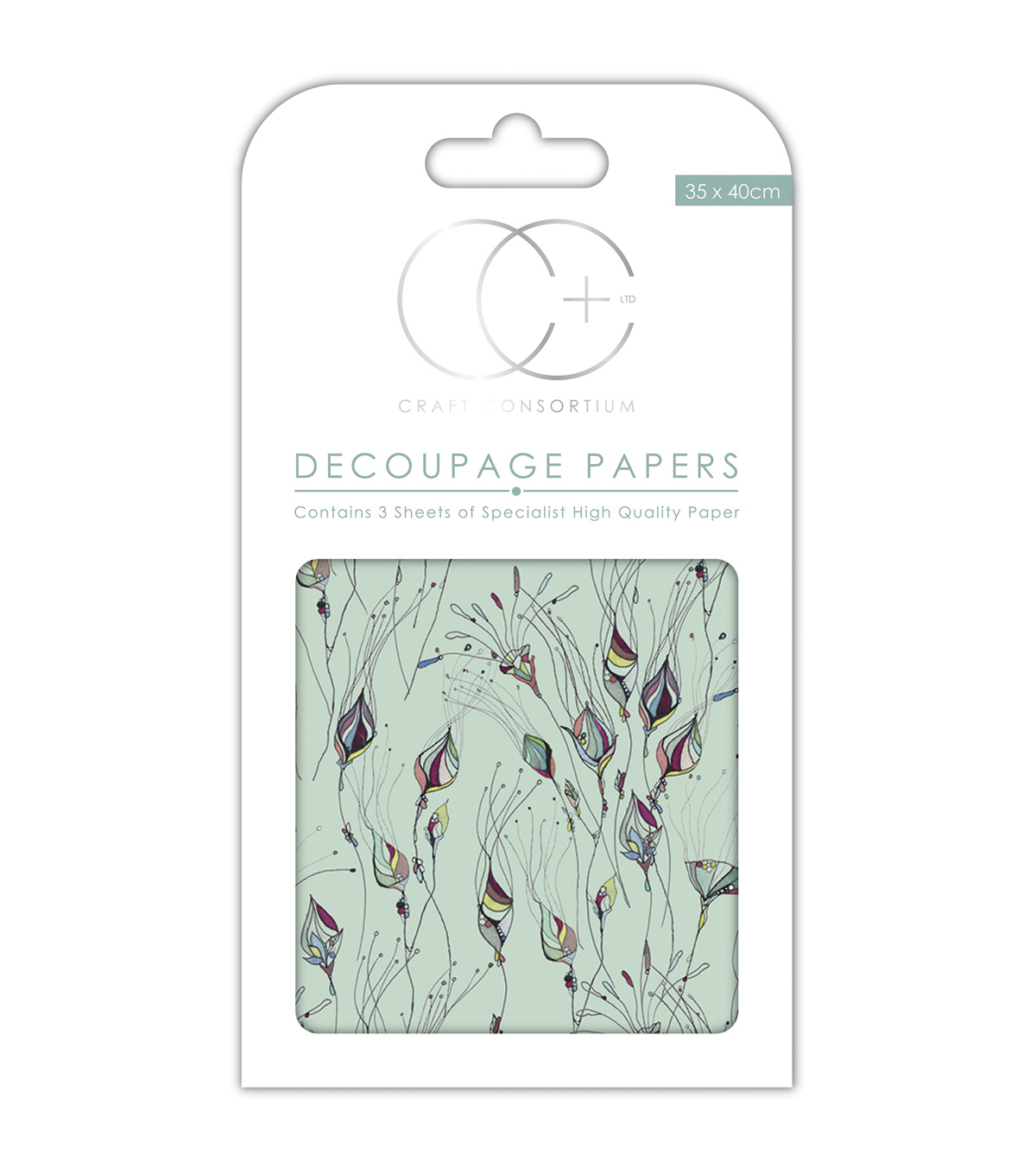 Craft Consortium 3pcs 13.75''x15.75'' Decoupage Papers-Sea Life