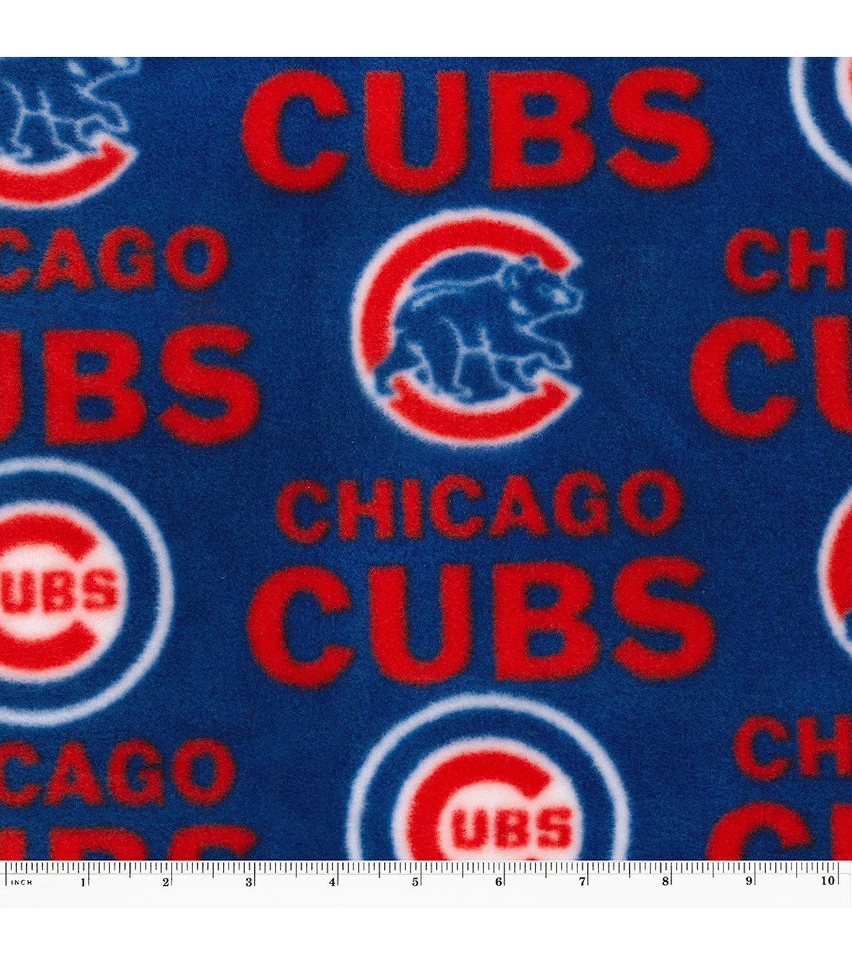 "Chicago Cubs Fleece Fabric 58""-Tossed"