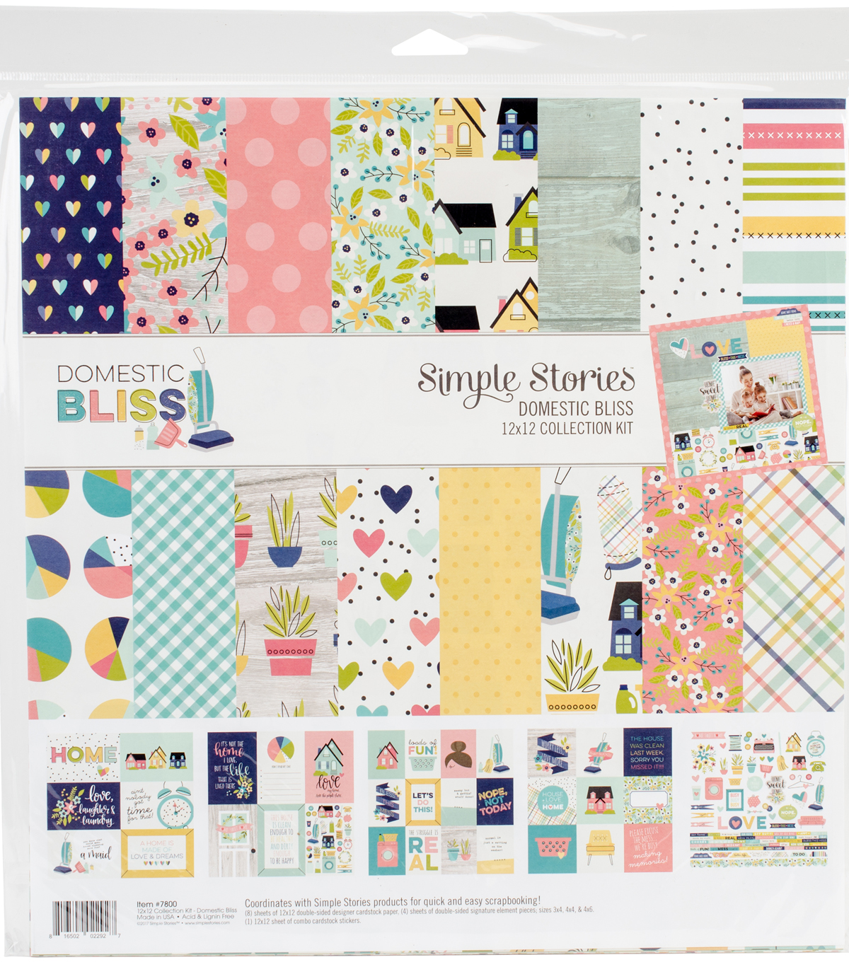 "Simple Stories Collection Kit 12""X12""-Domestic Bliss"