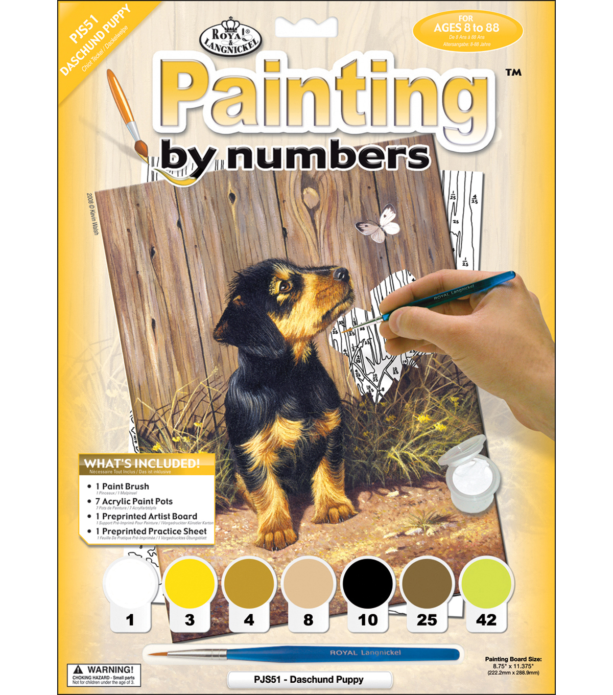Royal Langnickel Junior Paint By Number Kit Dachshund Puppy