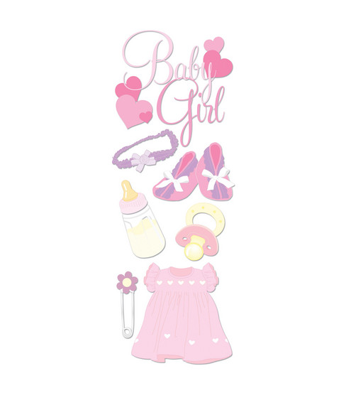 Touch Of Jolee\u0027s Dimensional Sticker-Baby Girl