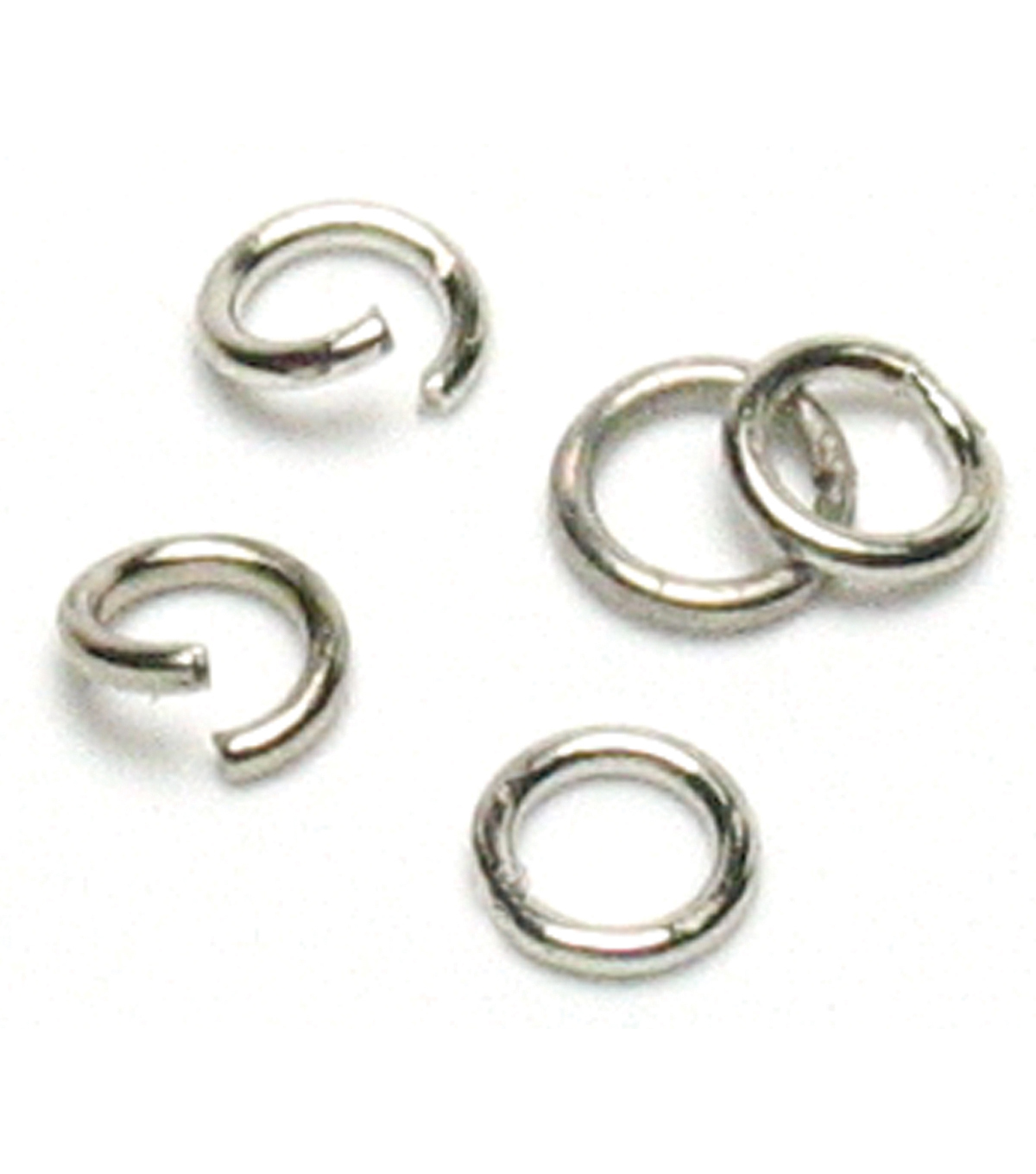 Jewelry Basics Open/Close Jump Rings 4mm 500/Pk-Silver