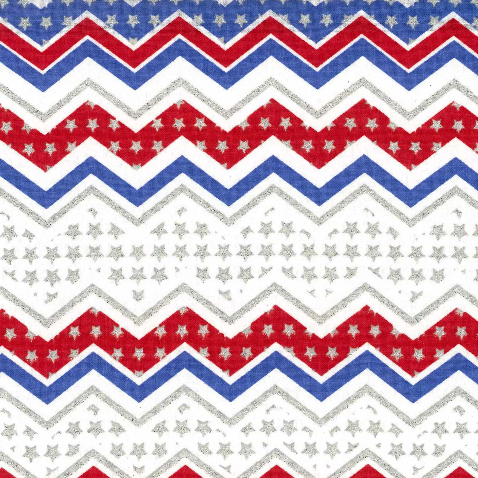 Chevron print fabric joanns - Holiday Inspirations Patriotic Fabric Red White Blue Chevron Glitter