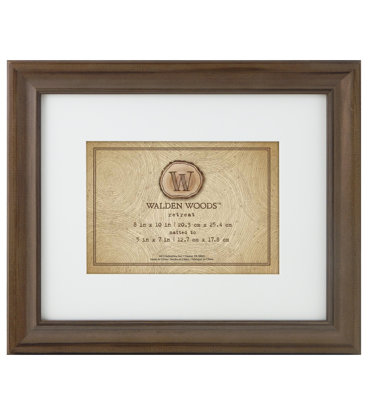 Walden Woods Wall Frame 8X10 To 5X7-Burnt Oak