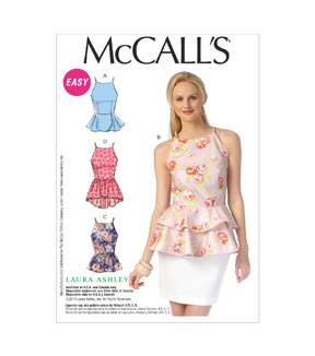 McCall's Pattern- M7162-E50 Misses' Tops-14-16-18-20-22