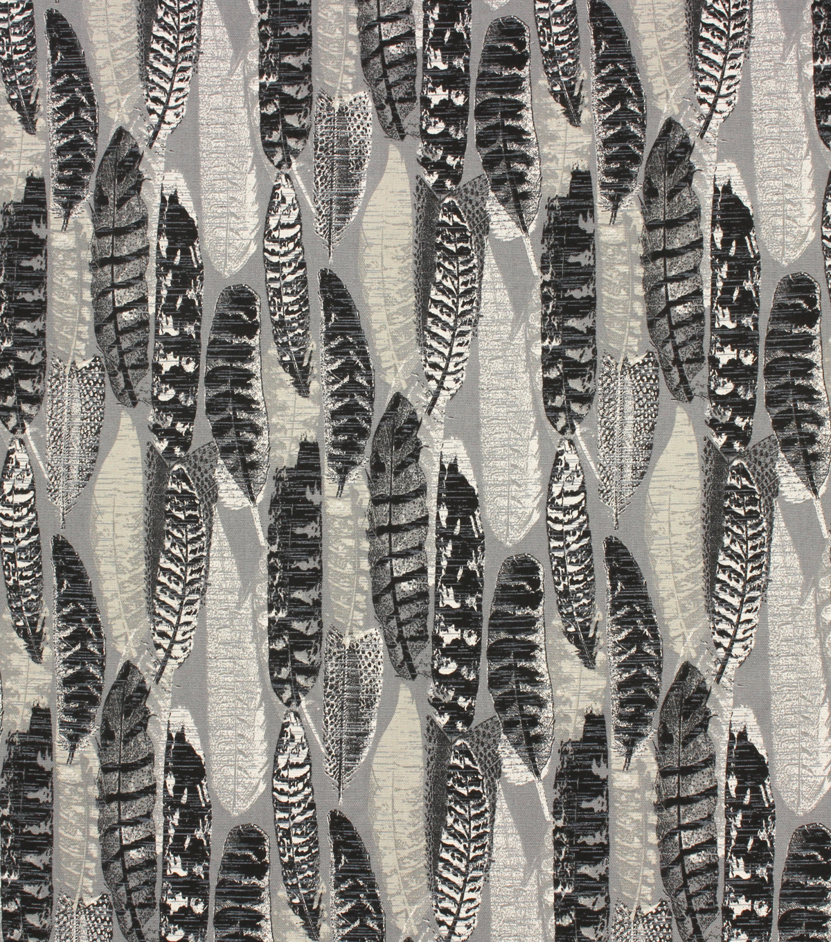 Home Essentials™ Print Fabric 45\u0027\u0027-Onyx Feathers