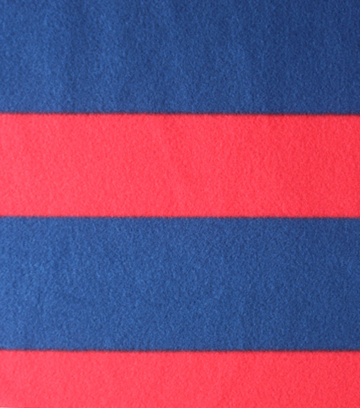 Blizzard Fleece Fabric - Navy Red Rugby Stripe