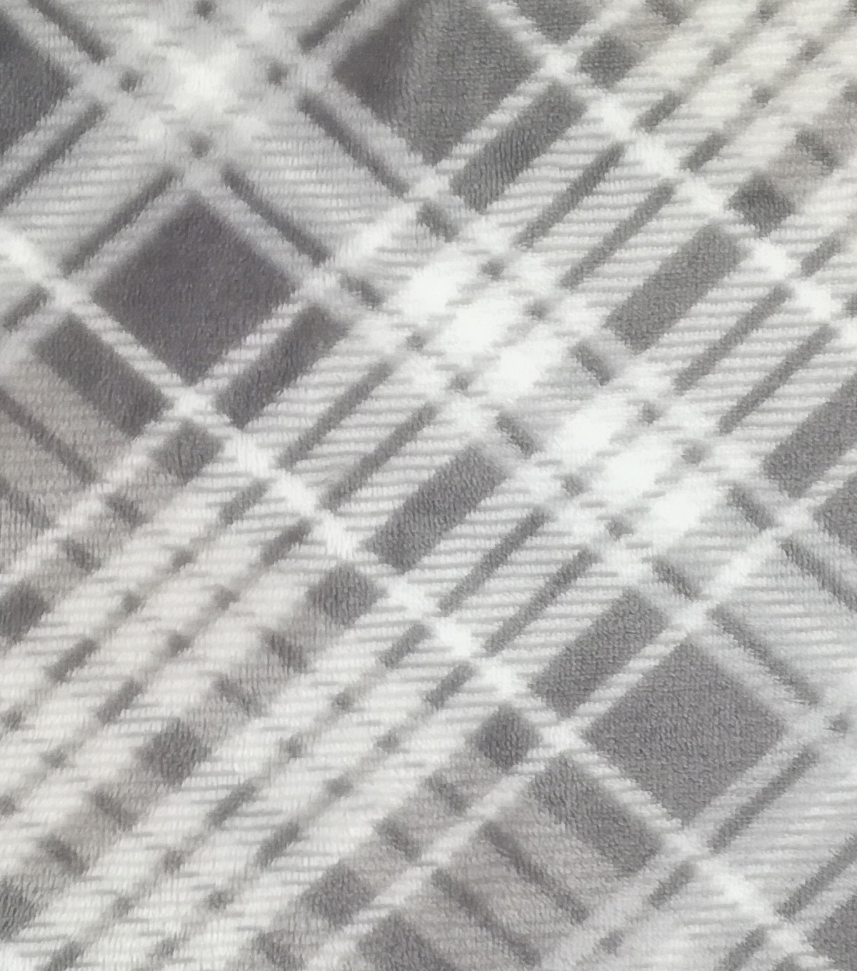 Sew Lush Fabric 57\u0022-Gray Plaid