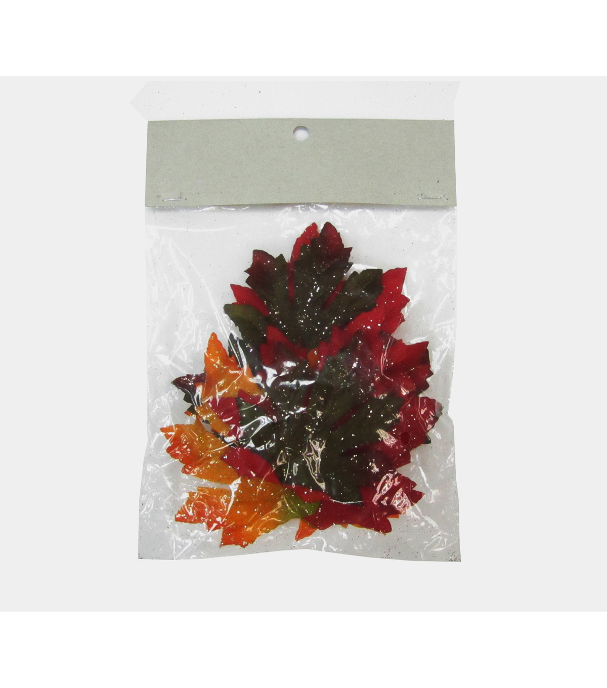 Blooming Autumn Glittered Maple Leaves In Bag