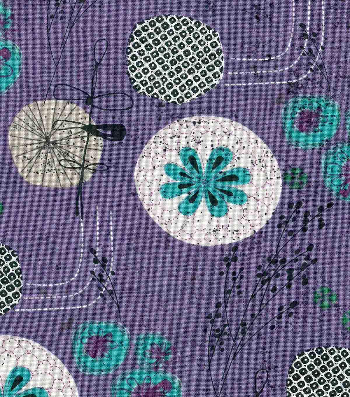 Modern Cotton Fabric 43\u0027\u0027-Garden on Amethyst