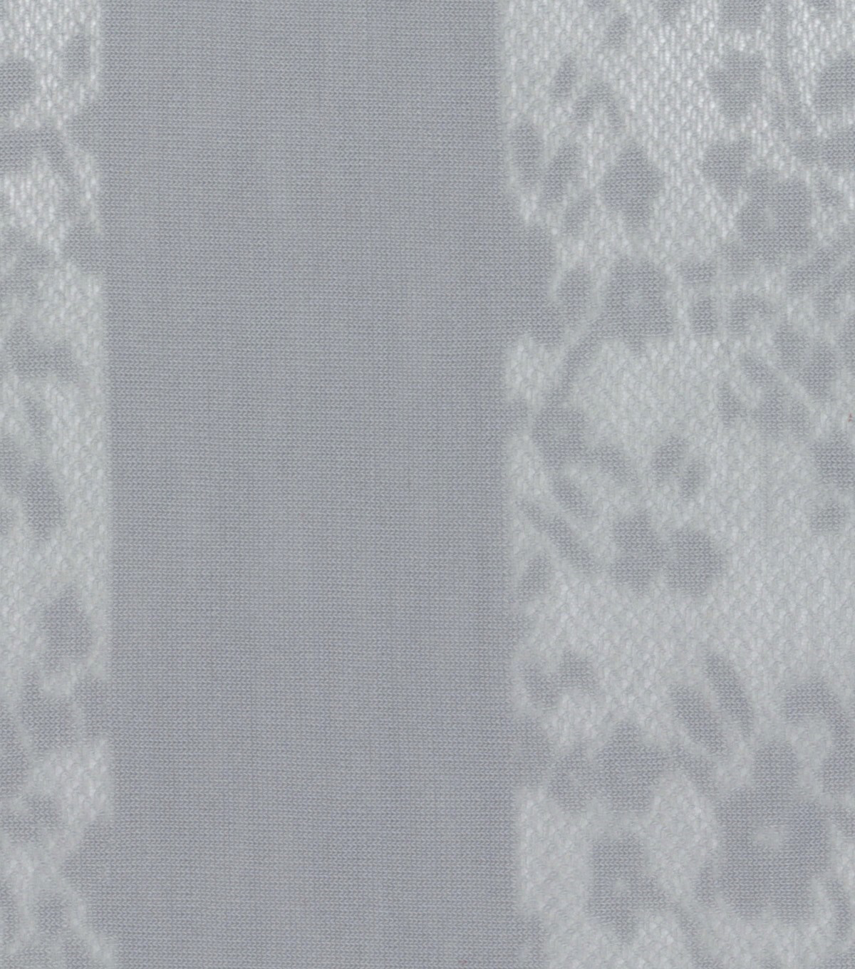 Sunwashed Meadow Lace Stripe Poly Knit Gray Fabric