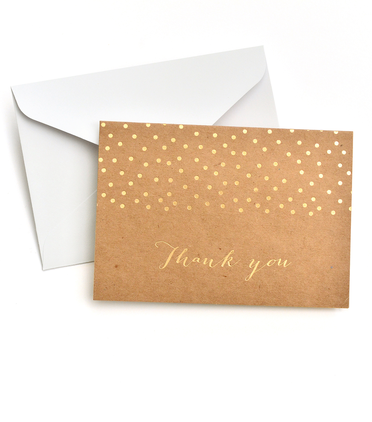 Save The Date 40 Pack Kraft Cards & Envelopes-Gold Foil Thank You