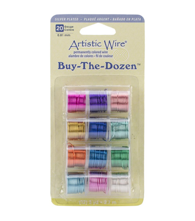 Artistic Wire Buy-The-Dozen Silver-Plated 3yd 12/Pkg-20 Gauge