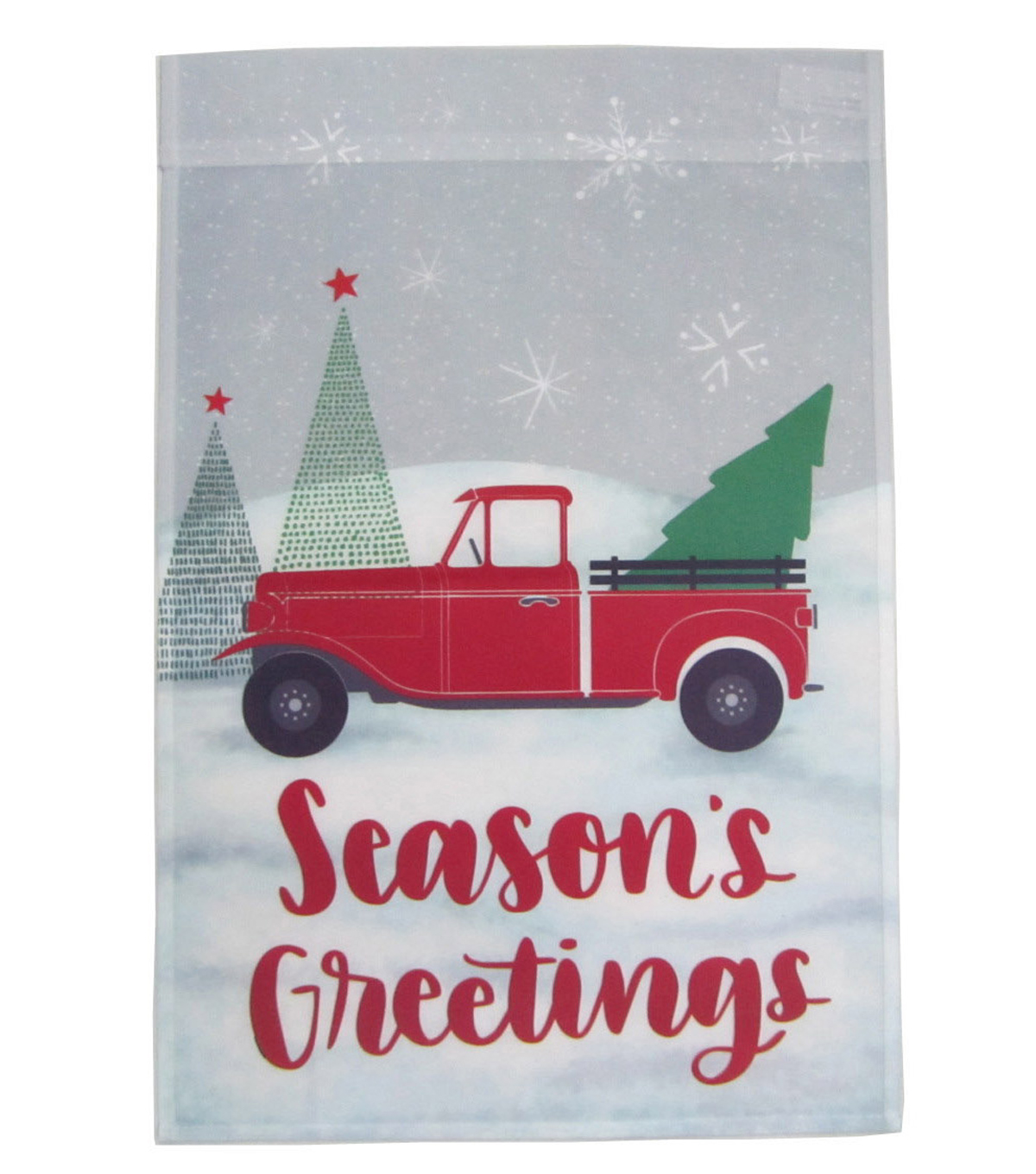 Maker\u0027s Holiday Christmas 12\u0027\u0027x18\u0027\u0027 Flag-Truck & Season\u0027s Greetings