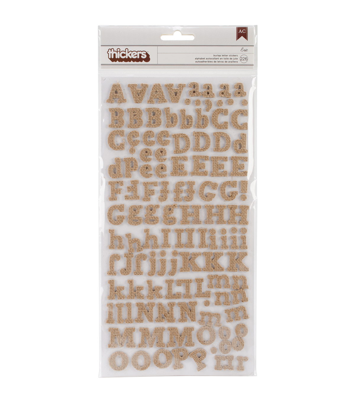American Crafts DIY Thickers Alphabet Stickers Eric Burlap