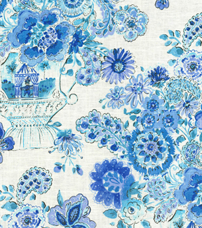 Dena Home Lightweight Decor Fabric 54\u0022-Blissful Bouquet/Blueberry