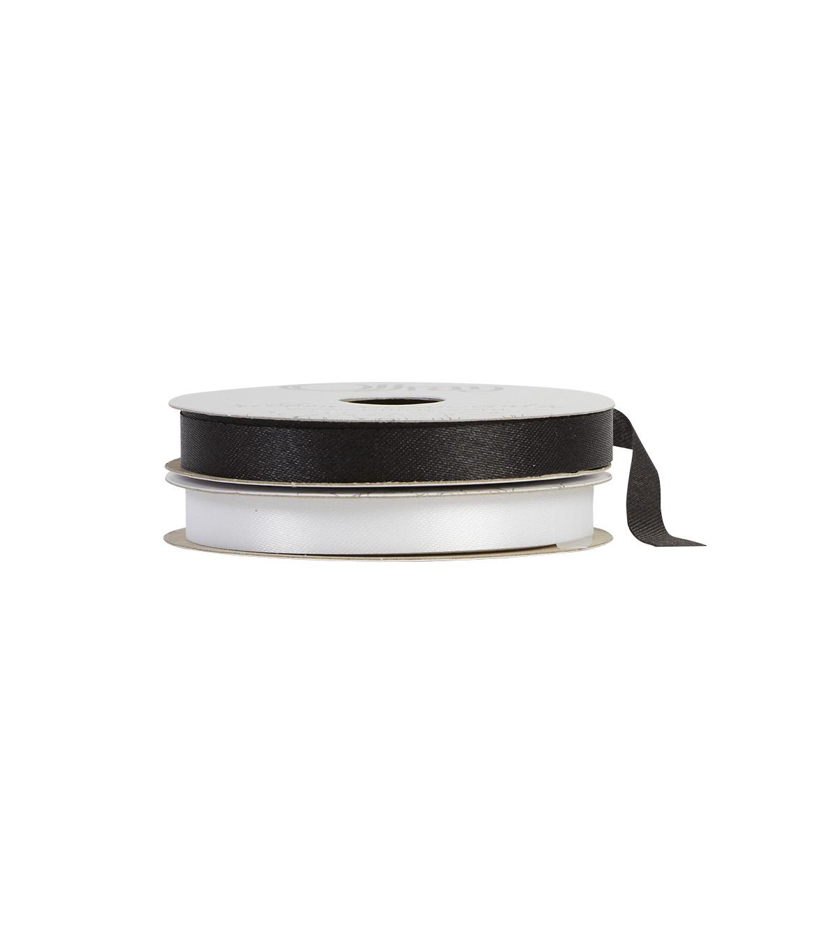 Offray 3/8\u0022x9\u0027 Seamaid Solid Accent Ribbon-Black