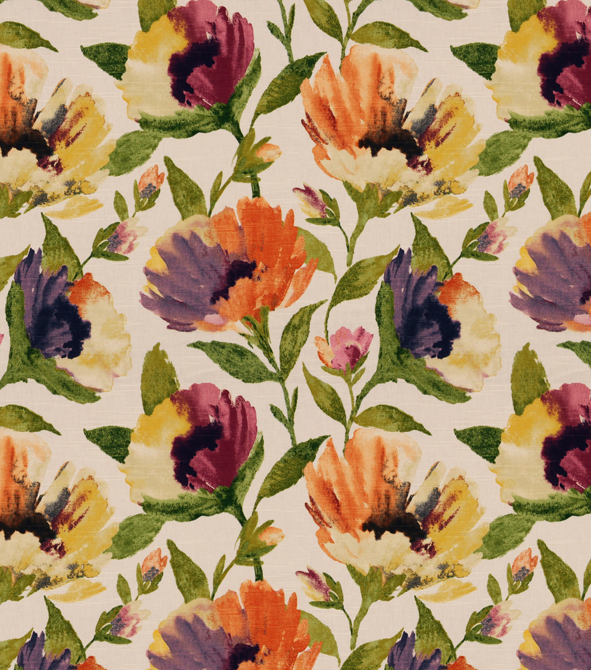 Robert Allen @ Home Print Fabric 55\u0022-Bella Flora Fresh Mango