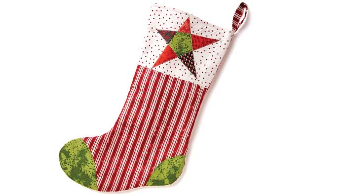 Paper Pieced Quilted Stocking