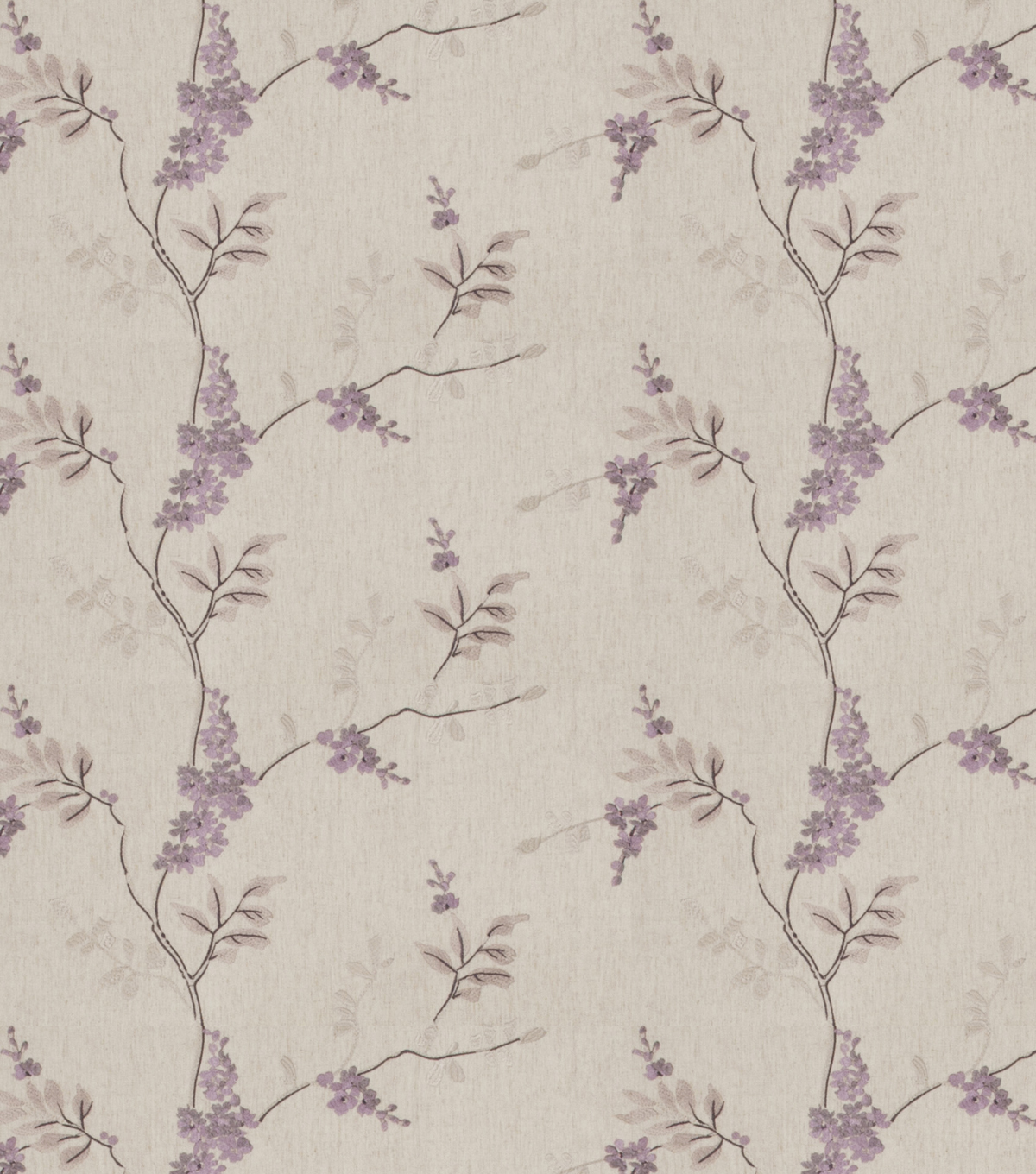 "Eaton Square Print Fabric 51""-Rosehips/Lilac"