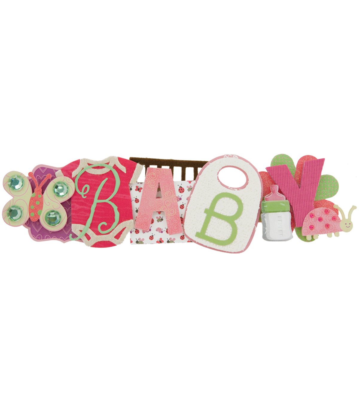 Karen Foster Baby Girl Stacked Statement Sticker 2.5\u0022X9\u0022
