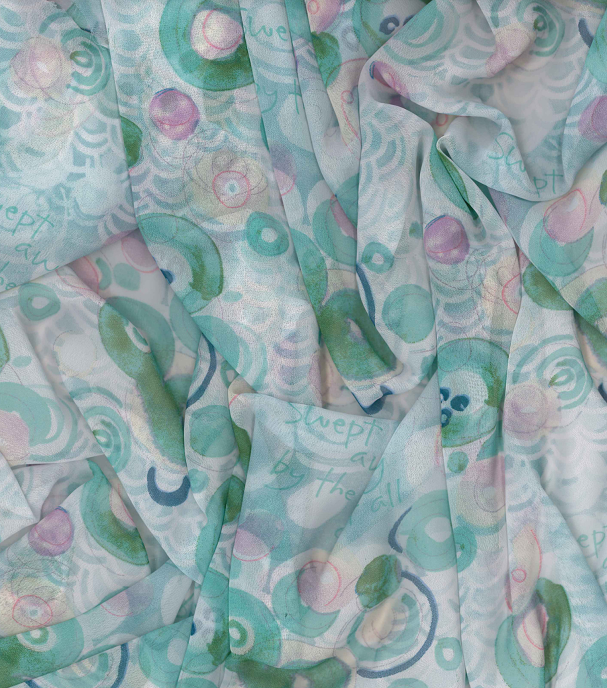 Kathy Davis® Chiffon Apparel Fabric 57\u0027\u0027-Swept Away