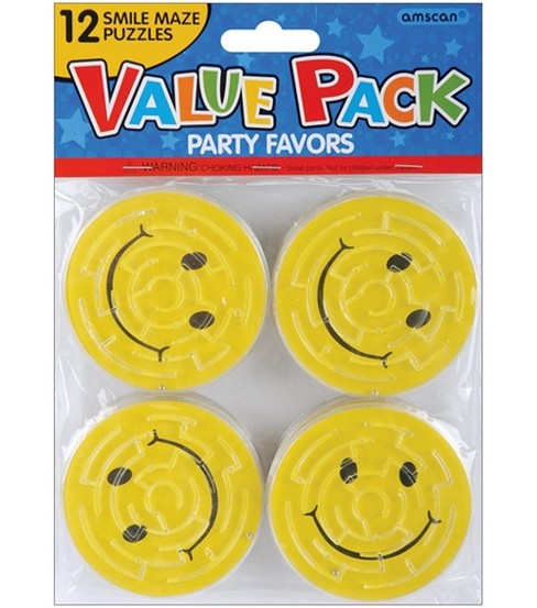 Party Favors 12/Pkg-Smile Maze Puzzles