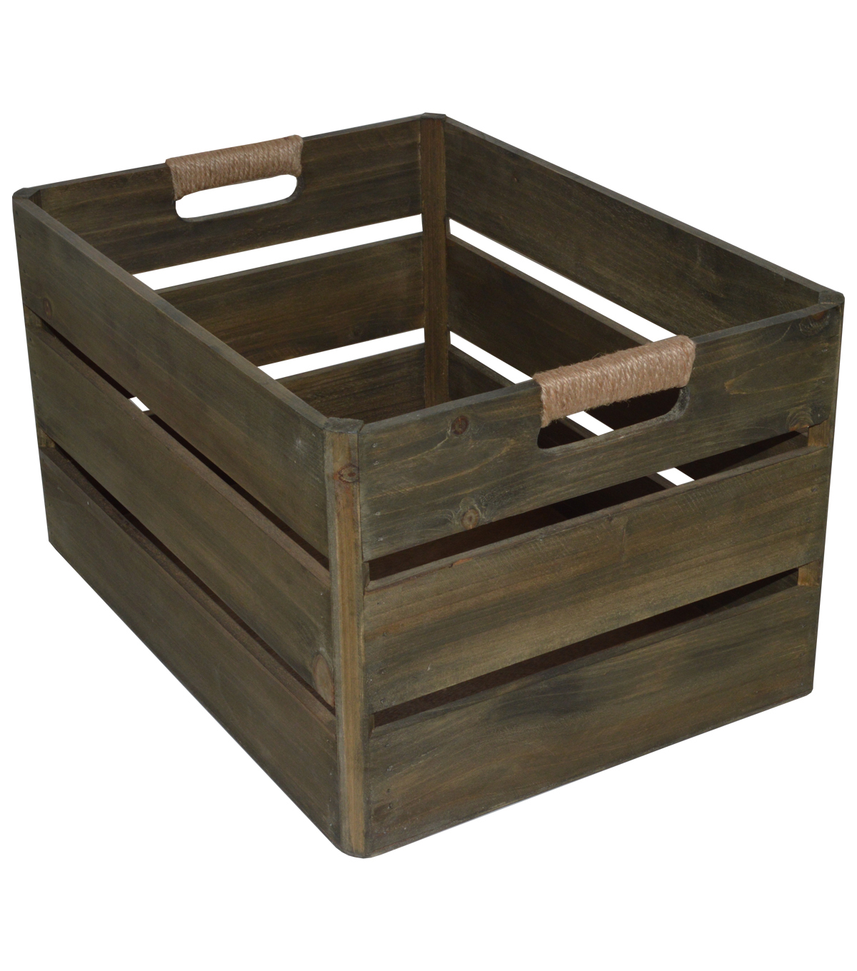Hudson 43 Farm Large Wood Bin-Natural