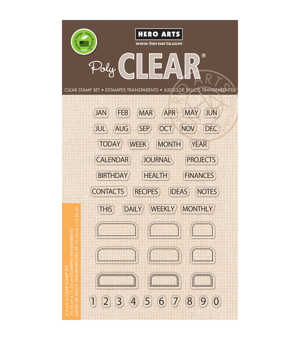 Hero Arts Tabs Clear Stamps
