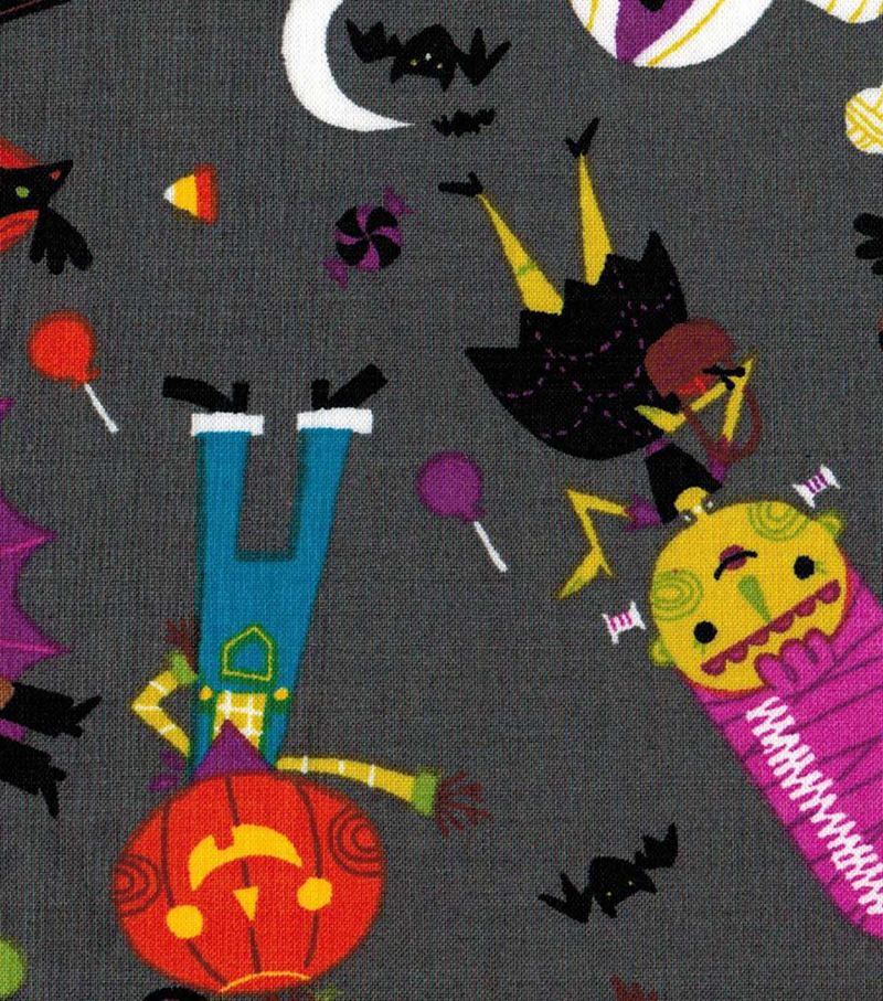 "Halloween Cotton Fabric 43""-Friendly Monsters"