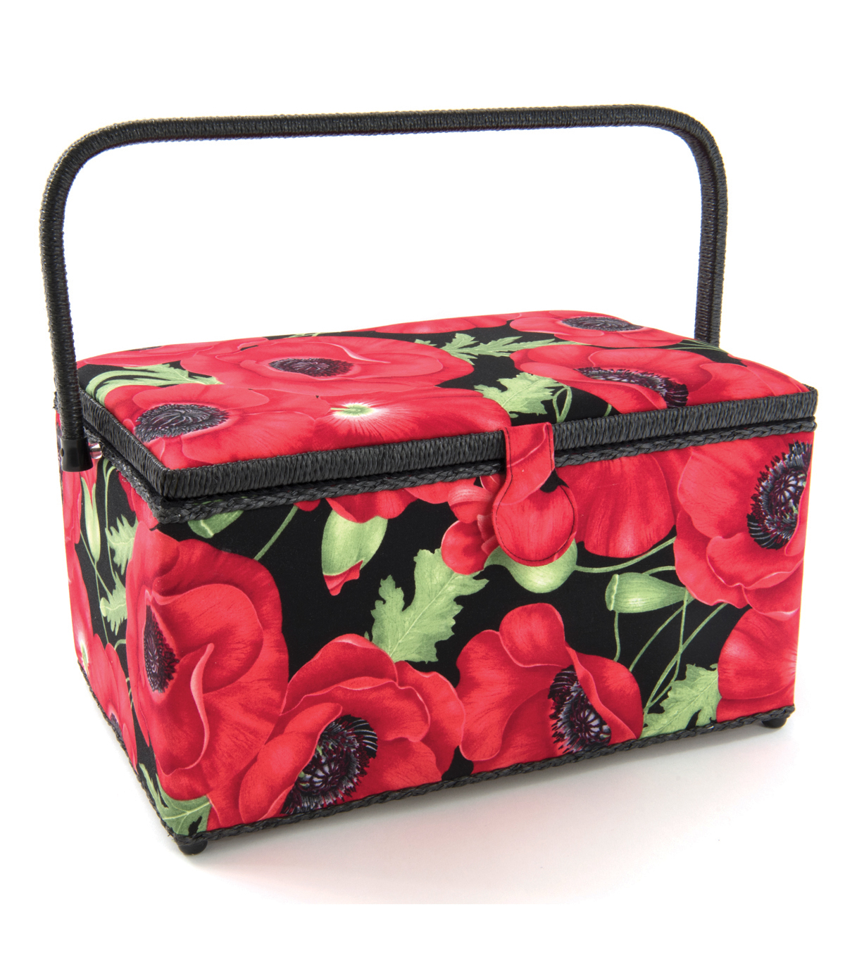 Extra Large Rectangle Sewing Basket-Poppy