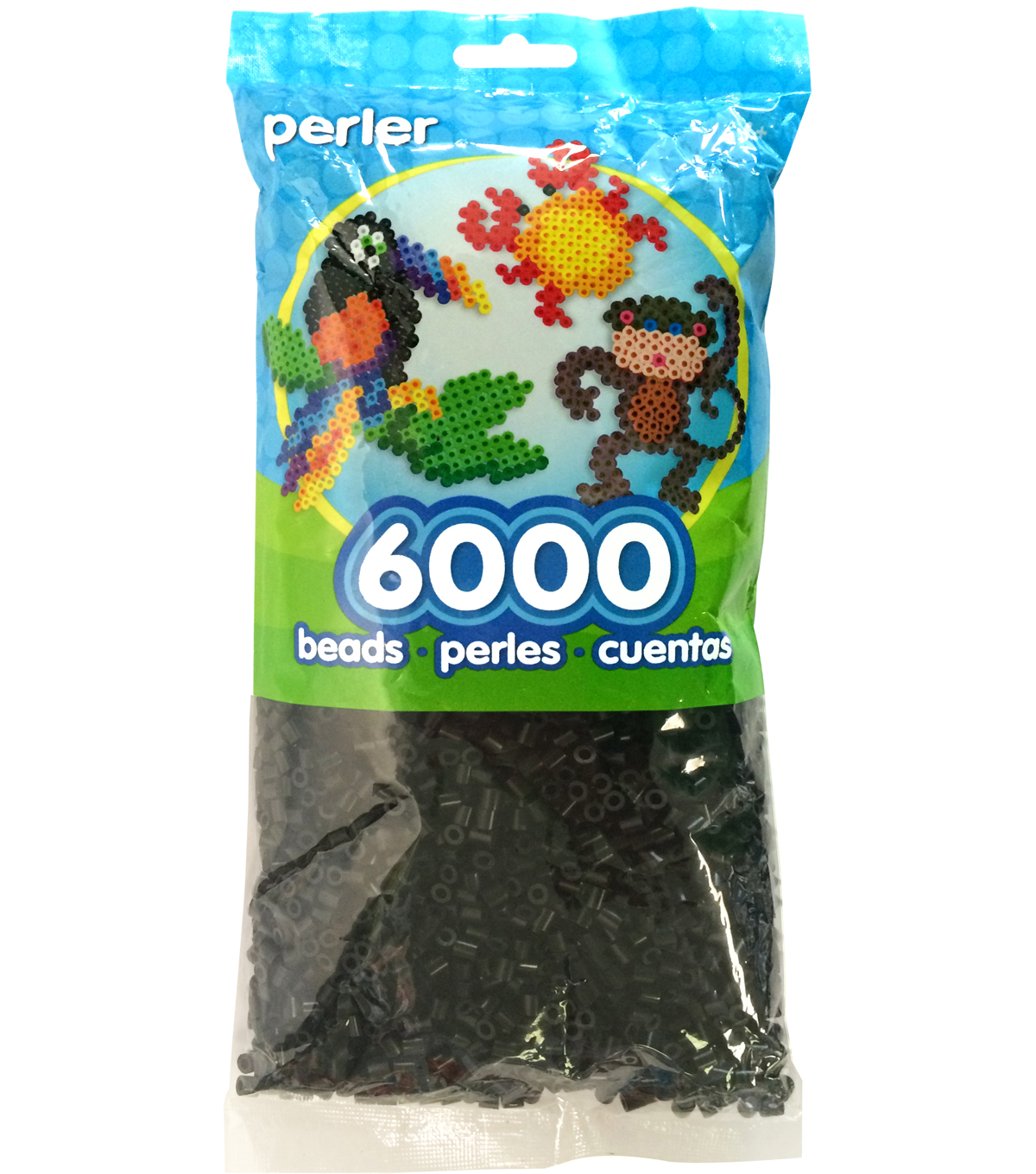 Perler Beads 6,000 Count-Black