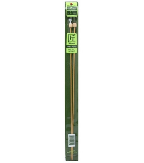 Clover Takumi Bamboo Knit Needle-Single Pt. 13\u0022-Size 2