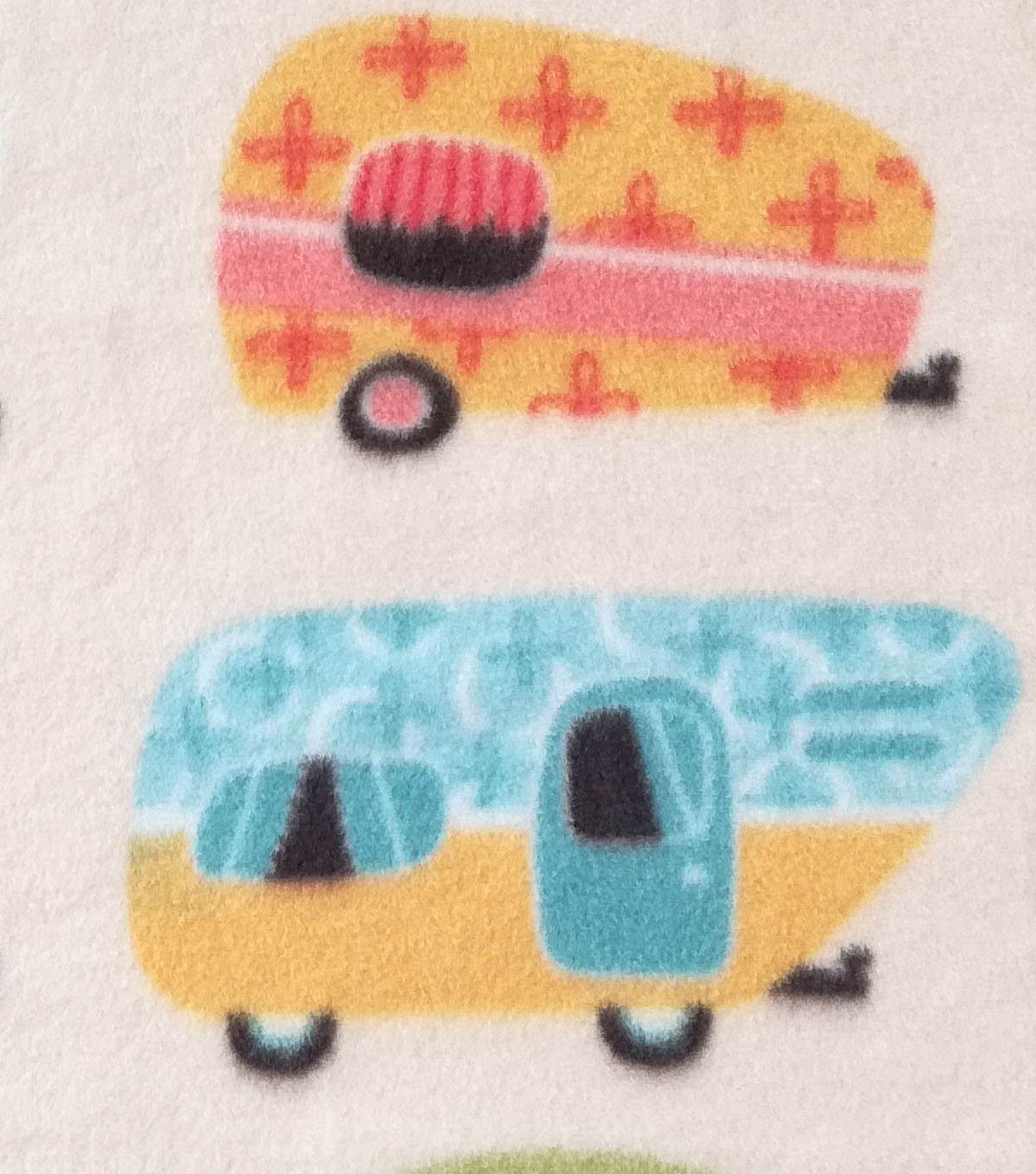 Anti-Pill Fleece Fabric 59\u0022-Retro Campers