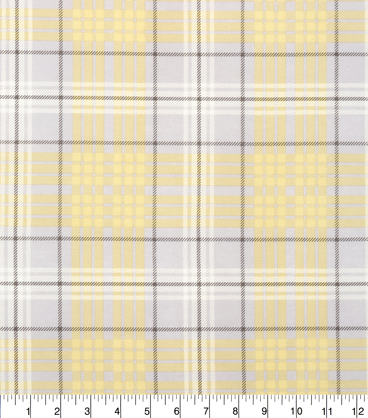 Keepsake Calico Fabric - Plaid Yellow Gray