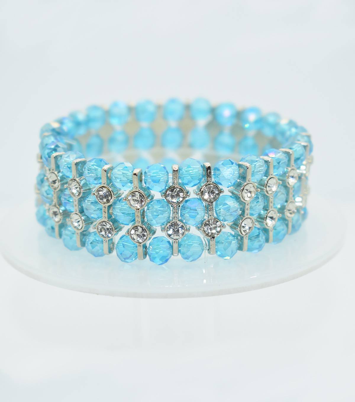 Glass Beads Spacer Bracelet-Turquoise