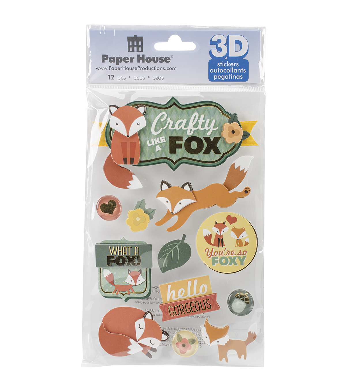 Paper House® 3D Stickers-Crafty Like A Fox