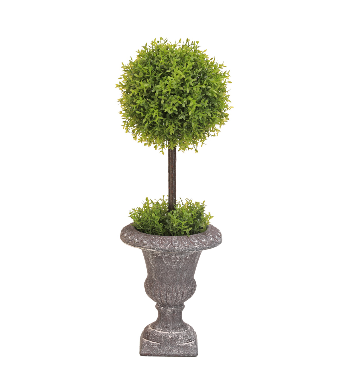 Tea Leaf Ball Topiary With Paper Pot