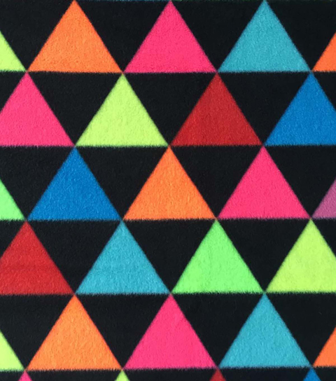 Anti-Pill Fleece Fabric 59\u0022-Neon Triangles